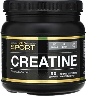 California Gold Nutrition, Creatine Powder, Micronized Creatine Monohydrate, Creapure, Unflavored 16 oz (454g), Milk-Free,...