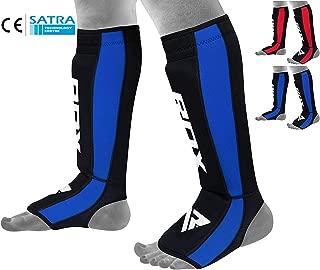 RDX Shin Guard Neoprene MMA Instep Pads Leg Muay Thai Boxing Training Protective Gear Kickboxing (CE Certified by SATRA)