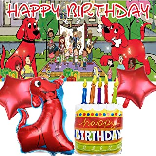 Clifford The Big Red Dog Party Supplies | Decorations | Balloons | Boy | For Girls | Banner | Backdrop | Birthday | Set | ...