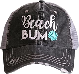 Beach Bum Women's Distressed Grey Trucker Hat