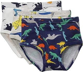 diandiandidi Boys Toddler Underwear Dinosaur Cartoon Kids 100% Cotton Briefs
