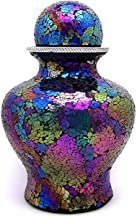 Cremation Urn for Adult, Sphere Top, Rainbow