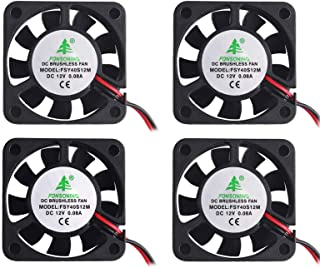 مروحة طابعة ثلاثية الأبعاد من MakerFocus 4 قطع 12 فولت 0.08 أمبير DC مروحة تبريد صغيرة هادئة 40 × 40 × 10 مم مع كابل 28 سم...