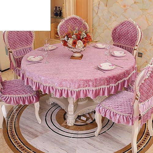 European-Style Luxus Tuch  Living Room minimalistischen Tischdecke  moderne Volltonfarbe Tischdecke Allgemeine Dicke Tischw he Rundtischdecken-A Durchmesser145cm(57inch)