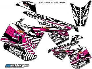 Compatible with Polaris 2011-2014 RMK/SWITCHBACK Mayhem Pink Sled Wrap