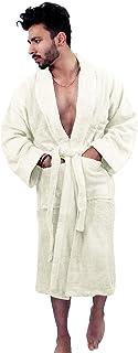 MAS International LTD Dressing Gown Mens & Womens Unisex Lounge Wear Bathrobes 100% Cotton Cosy Nightwear Towelling Fluffy...
