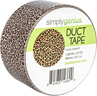 Simply Genius (Single Roll) Patterned and Colored Duct Tape Roll Craft Supplies for Kids Adults Patterned Duct Tape Colors