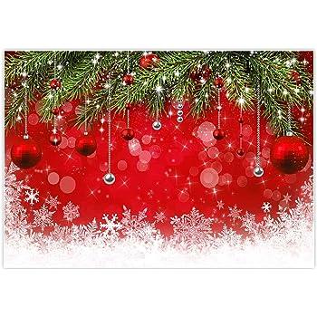 10x6.5ft Red Tarin Christmas Photography Backdrops Snowflake Brick Wall Photo Background Xmas Microfiber Soft Fabric Backdrop for Photoshoot