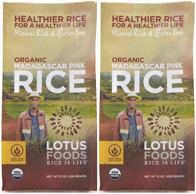 Lotus Foods Organic Madagascar Pink Rice, 15 oz., 2 pk