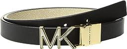 MICHAEL Michael Kors - 20mm Smooth to Metallic Textured Reversible Belt