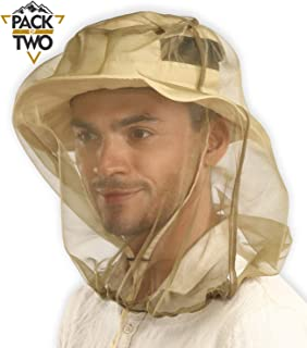 Mosquito Head Net - Bug Face Netting for Hats with Extra Fine Mesh/Fly Screen Holes - Ultimate Outdoor Protection from Bug...