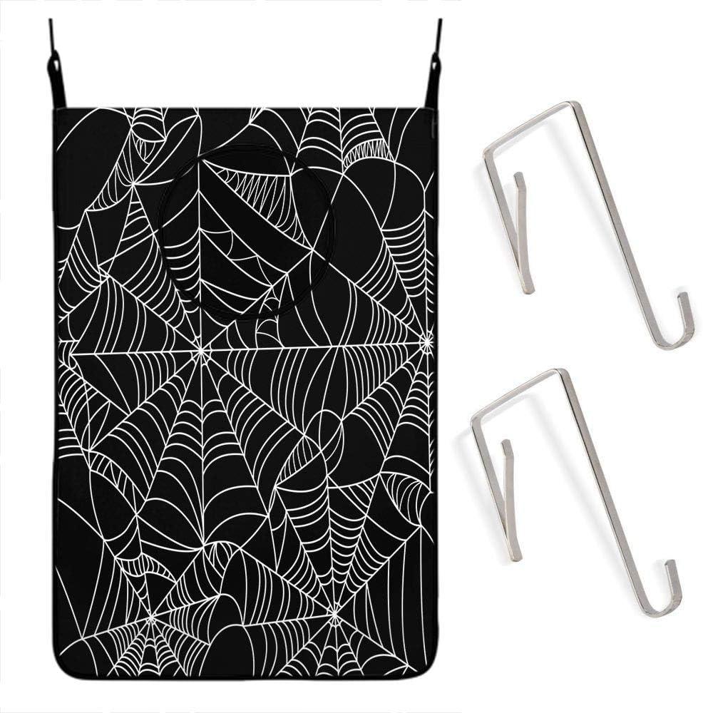 HOSNYE Black Luxury and White Halloween Han Pattern Many popular brands Seamless Spider Web