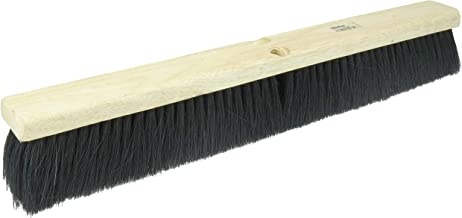 "Weiler 42134 18"" Block Size, Black Tampico Fill, Coarse Sweeping Floor Brush, Natural"