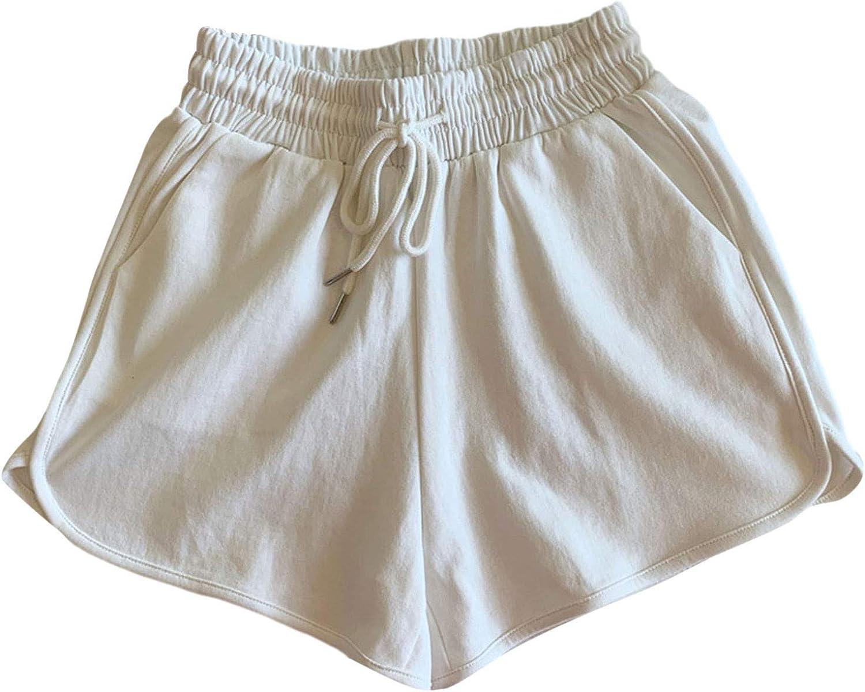 BEUU Womens Plus Size Yoga Athletic Workout Dolphin Shorts Drawstring Elastic Waist Sports Pant Summer Activewear