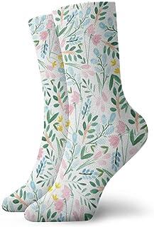 Medias deportivas transpirables para hombres y mujeres Flores silvestres Acuarelas Divertidas Calcetines de poliéster 30 cm (11.8 pulgadas)
