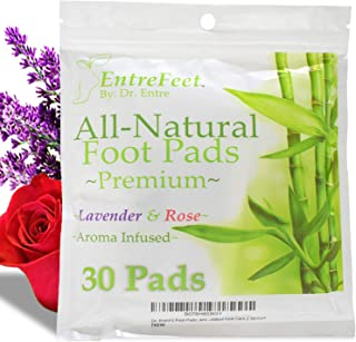 Dr. Entre's Foot Pads: Organic All Natural Formula for Impurity Removal, Pain Relief, Sleep Aid, Relaxation | Aroma Infused 30 Pack