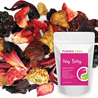 Very Berry Hibiscus Herbal Fruit Tea - Caffeine Free Loose Leaf Bulk Berries Herbs and Fruit - 5 Oz Pouch