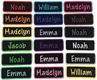 Custom Name Patch Embroidered Tag - Iron On Or Sew On (1 Patch)