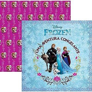 Kit Fls.P/ Scrap Df Frozen 1 Guirlanda C/12 Un, Toke E Crie, Sdfd041, Multicolorido, Pacote De 12