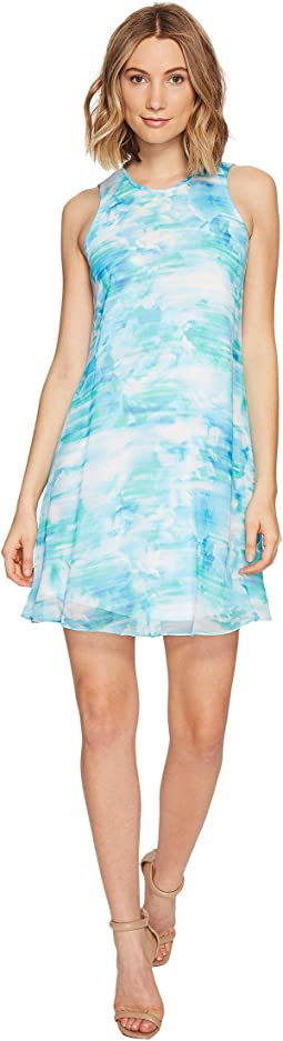 Calvin Klein - Blurred Print Trapiz Dress