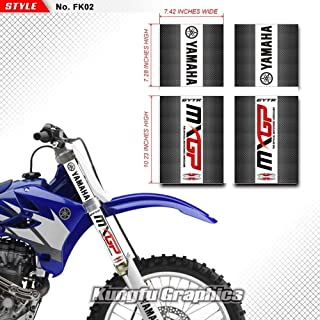 Kungfu Graphics MXGP Upper Mid Fork Tube Decal Kit (Pack of 4), Black