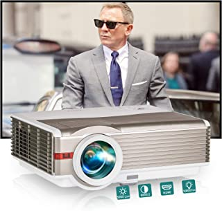 Video Projector 4200 Lumen Outdoor Backyard Theater System Full HD 1080P Support LCD LED Multimedia WXGA Home Cinema Theat...