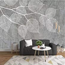 Hwhz Custom 3D Photo Wallpaper Nordic Modern Hand Painted Grey Leaf Mural Wall Papers Home Decor Living Room Bedroom Mural...