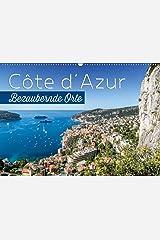 CÔTE D'AZUR Bezaubernde Orte (Wandkalender 2021 DIN A2 quer) Kalender