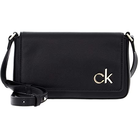 Calvin Klein Damen EW Flap XBODY, Schwarz, 28 Inches, Extra-Large