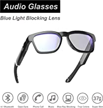OhO sunshine Waterproof Audio Sunglasses, Over Ear Bluetooth Headset with Built-in Microphone, UV400 Blue Light Blocking Healthy Glasses for Gaming, Reading and Computer