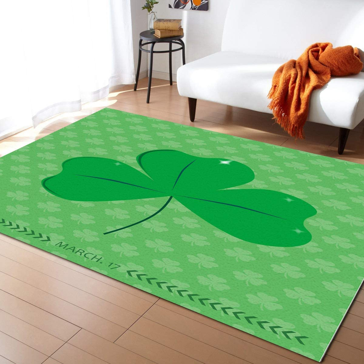 Area Rug for shop Bedroom Living Super-cheap Room- St. Lucky Happy Day Patrick's
