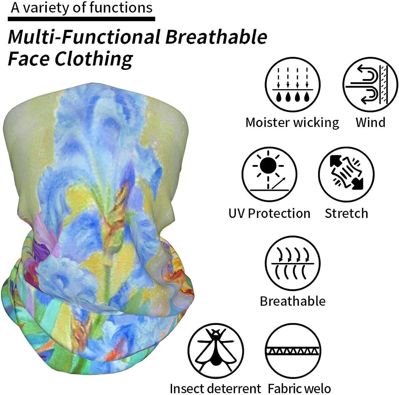 Pruicoco Neck Gaiter Multipurpose Headwear Ice Silk Mask Scarf Summer Cool Breathable Outdoor Sport 4 Pcs