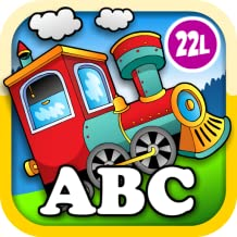 Kids Animal Train: Preschool and Kindegarten Learning Matching and Reading Adventure – ABC First Word Educational Games for Toddler Loves Farm and Zoo Animals & Colors (Abby Monkey® edition)
