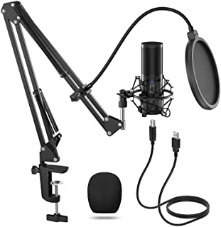 TONOR USB Microphone Kit Q9 Condenser Computer Cardioid Mic for Podcast, Game, YouTube..