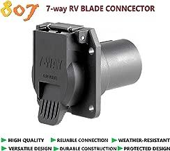 807 7-pin Blade Socket,7-Way RV Blade Connector Towing Wiring