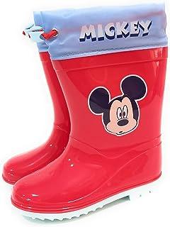 Botas Agua Mickey Mouse para Niños - Botas Agua Disney Suela Antideslizante y Cuello con Cierre Ajustable