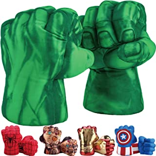 Toydaze Hulk Hands, Spiderman Gloves, Ironman Fists, Captain America Hands, Superhero Costumes Gloves