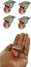 "Impoda 4 x Small 1"" Single Wheel Puff Castor For Centre Table Furniture / 80kg Load Capicity"