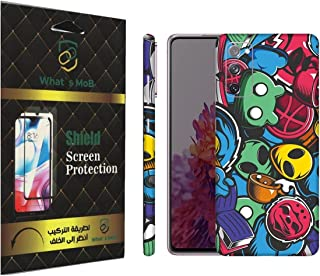 For SAMSUNG Galaxy S20 FE back full skin Doodle 08 soft felling Hd print by whats mob (Not Cover)