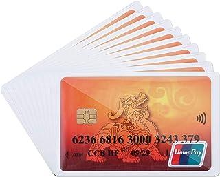 You&Lemon 100 fundas para tarjetas de crédito, de plástico, transparentes, con orificio