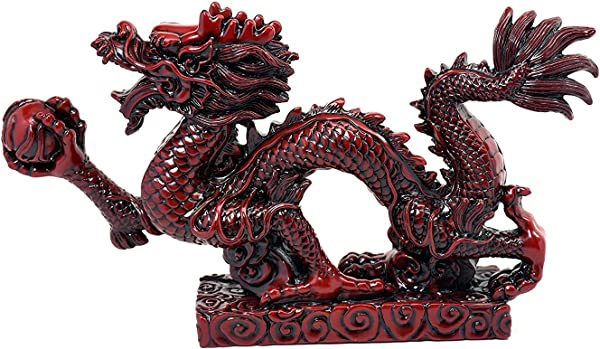 Chinese Feng Shui Dragon Figurine Statue For Luck Success 9 Inch LONG