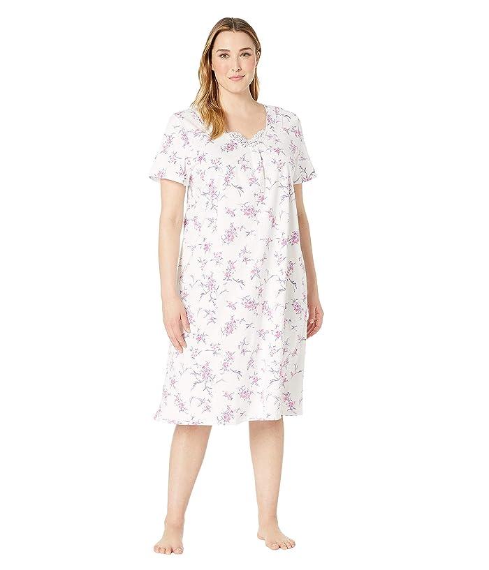 Carole Hochman Plus Size Long Gown CH81704X (White Bouquet) Women