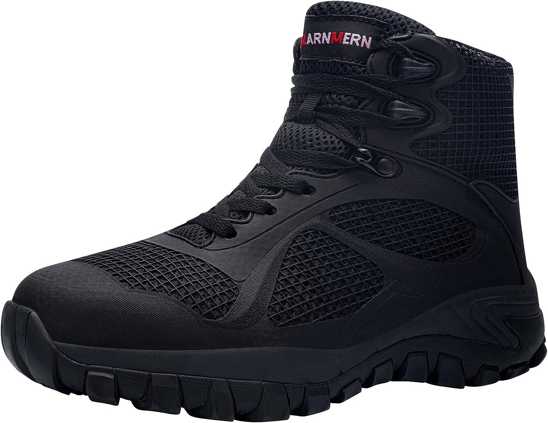 LARNMERN Steel Excellent Toe Puncture Rapid rise Proof Boots Resistant Men Silp
