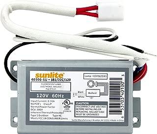Sunlite 40100-SU SB122C120 1 Lamp FC8T9 Fluorescent Circline Ballast, 120-volt