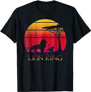 Disney Lion King Vintage Sunset Logo Graphic T-Shirt