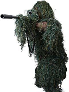 Boys Military Ghillie Suit 3D Leaf Camouflage Hunting Secretive Clothing Sniper Army Camo Kids Halloween Costume