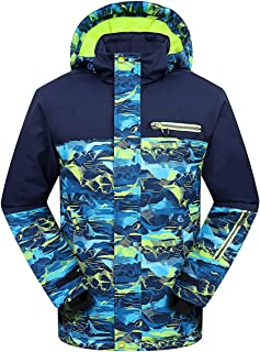 PHIBEE Big Boys' Waterproof Breathable Outdoor Warm Snowboard Ski Jacket