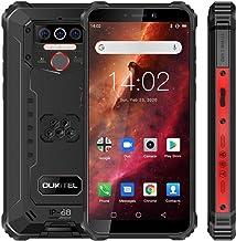 Móvil Resistente, OUKITEL WP5 Telefono Movil Antigolpes, Batería Grande de 8000 mAh, 4GB RAM + 32GB ROM, 5.5 Pulgadas, Cámara Triple, Android 9.0 Smartphone con 4 Linternas LED Súper Brillantes- Rojo