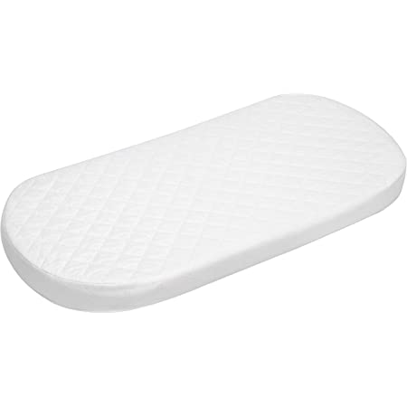 75 X 28 X 3.5 cm Moses Basket Foam Mattress Bassinet Baby PRAM Oval Fully Breathable Quilted