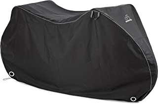 DAVANDI Bike Cover - Waterproof Outdoor Bicycle Storage for 1or 2 Bikes - Heavy Duty Ripstop Material - Offers Constant Protection for All Types of Bicycles All Through The 4 Seasons